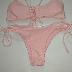 American Apparel Cotton Candy Pink Two Piece Suit